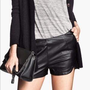 Leather H&M shorts NWT